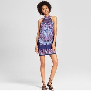 BOGO🎉 Xhilaration High Neck Crochet Dress Navy